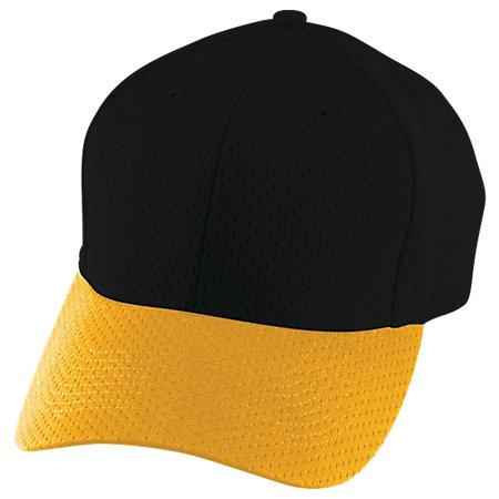 Athletic Mesh Cap Black/gold Adult Baseball