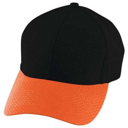 Athletic Mesh Cap Black/orange Adult Baseball
