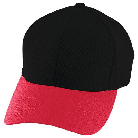 Athletic Mesh Cap Black/red Adult Baseball