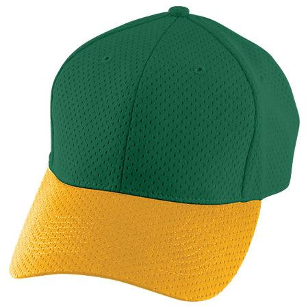 Athletic Mesh Cap Dark Green/gold Adult Baseball