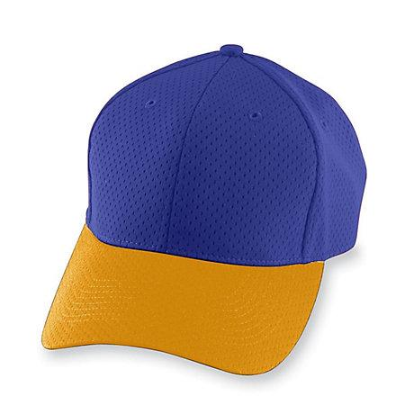 Athletic Mesh Cap Purple/gold Adult Baseball
