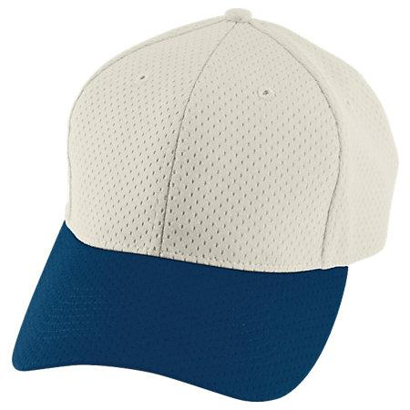 Athletic Mesh Cap Silver Grey/navy Adult Baseball