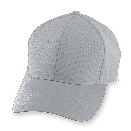 Athletic Mesh Cap-Youth Silver Grey Béisbol Juvenil