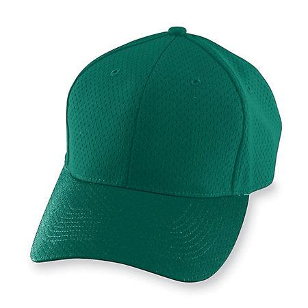 Athletic Mesh Cap-Youth Béisbol juvenil verde oscuro