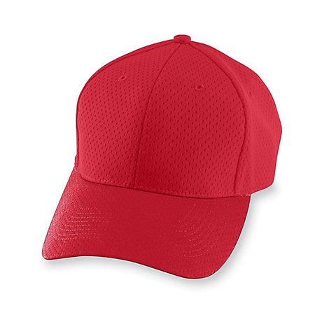 Gorra de malla atlética-Youth Red Youth Baseball