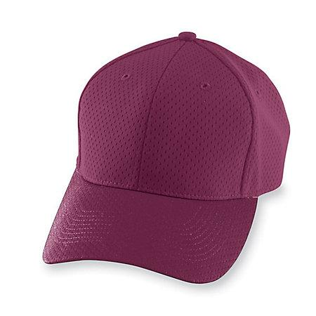 Athletic Mesh Cap-Youth Maroon Baseball Juvenil