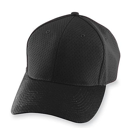 Athletic Mesh Cap-Youth Béisbol juvenil negro