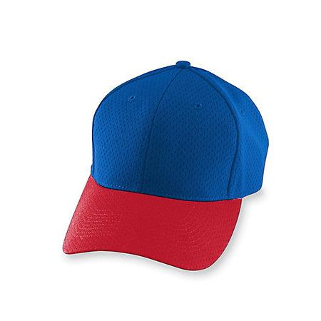 Athletic Mesh Cap-Youth Royal / red Youth Baseball