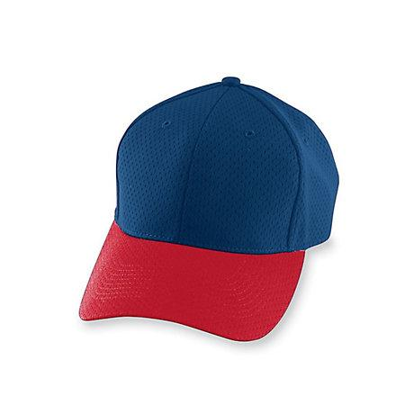 Athletic Mesh Cap-Youth Navy / red Youth Baseball
