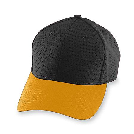 Athletic Mesh Cap-Youth Black / gold Baseball juvenil