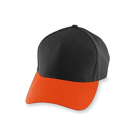 Athletic Mesh Cap-Youth Negro / naranja Béisbol juvenil