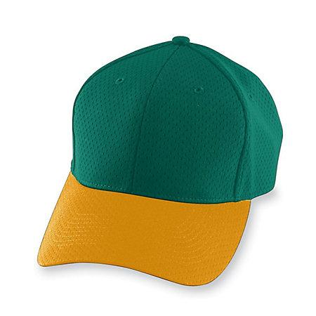 Athletic Mesh Cap-Youth Verde oscuro / dorado Béisbol juvenil