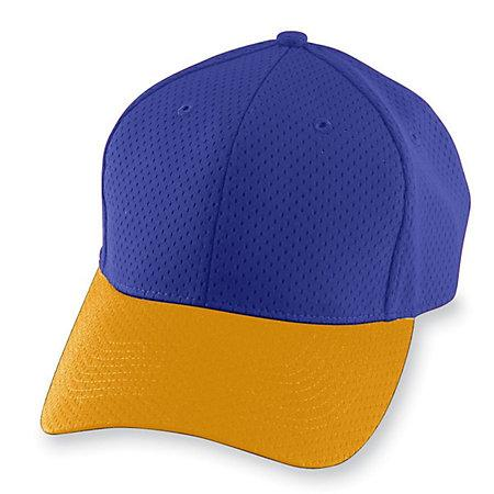 Athletic Mesh Cap-Youth Púrpura / oro Béisbol juvenil