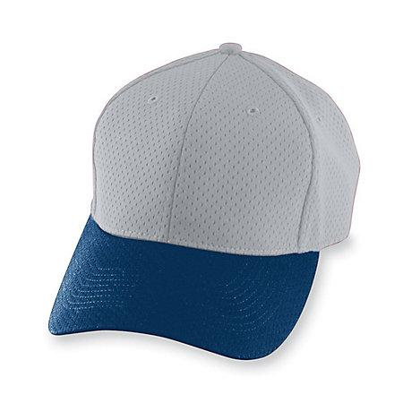 Athletic Mesh Cap-Youth Silver Grey / navy Béisbol juvenil