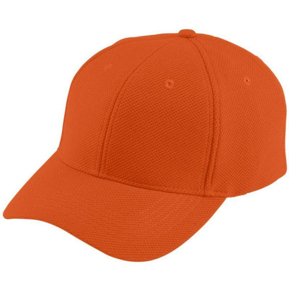 Youth Adjustable Wicking Mesh Cap Orange Baseball