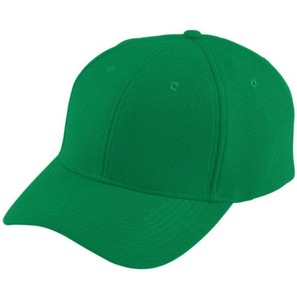 Youth Adjustable Wicking Mesh Cap Kelly Baseball