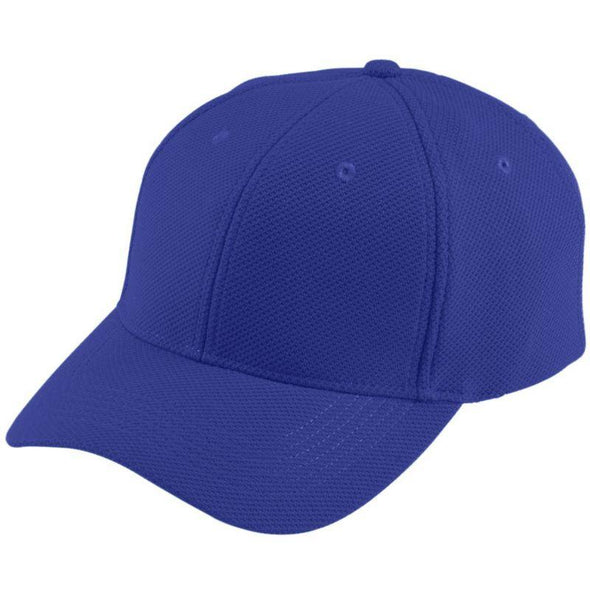 Youth Adjustable Wicking Mesh Cap Purple Baseball