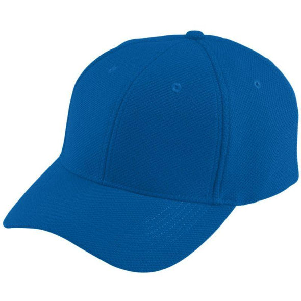 Youth Adjustable Wicking Mesh Cap Royal Baseball