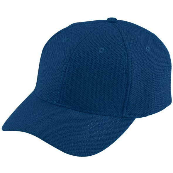 Youth Adjustable Wicking Mesh Cap Navy Baseball