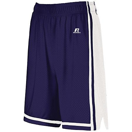 Ladies Legacy Basketball Shorts Purple/white Single Jersey &