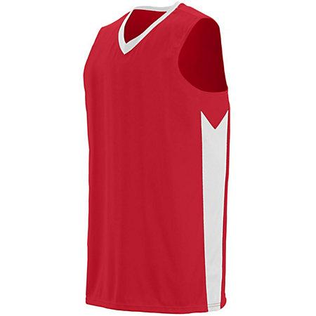 Block Out Jersey Red/white Adult Basketball Single & Shorts