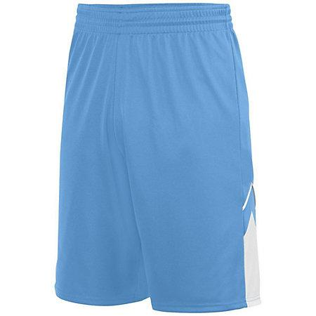 Youth Alley-Oop Reversible Shorts Columbia Blue/white Basketball Single Jersey &