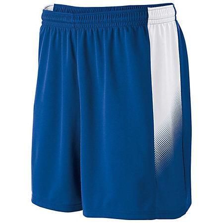Youth Ionic Shorts Royal / white Single Soccer Jersey &