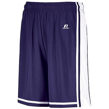 Youth Legacy Basketball Shorts Purple/white Single Jersey &