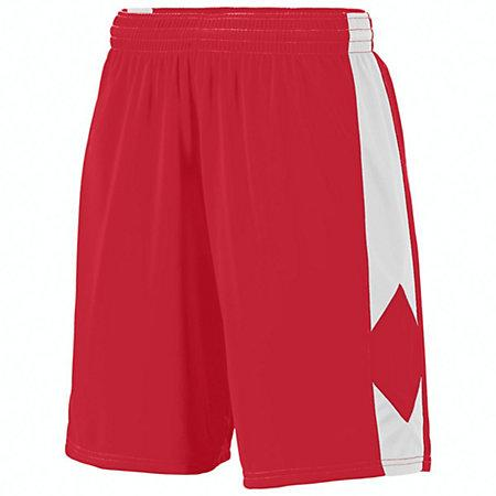 Youth Block Out Shorts Red/white Basketball Single Jersey &