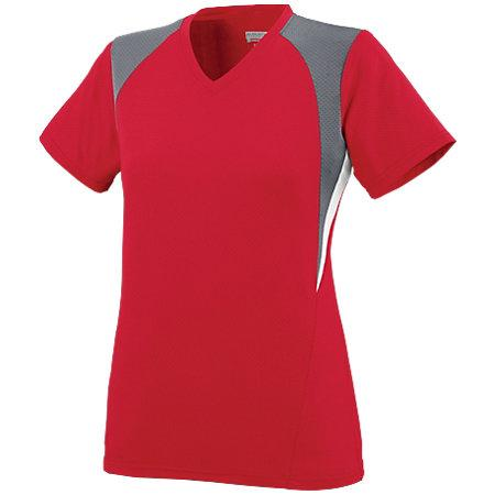 Ladies Mystic Jersey Red/graphite/white Softball