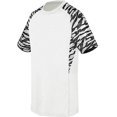 Youth Evolution Printed Shorts Sleeve Jersey White/fragment Print/white Single Soccer &