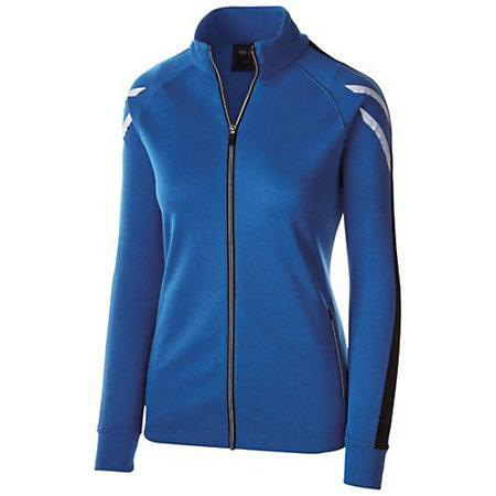 Ladies Flux Jacket Royal Heather/black/white Softball