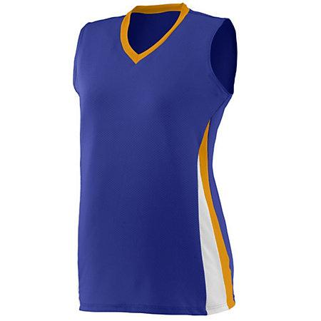 Ladies Tornado Jersey Purple/gold/white Softball
