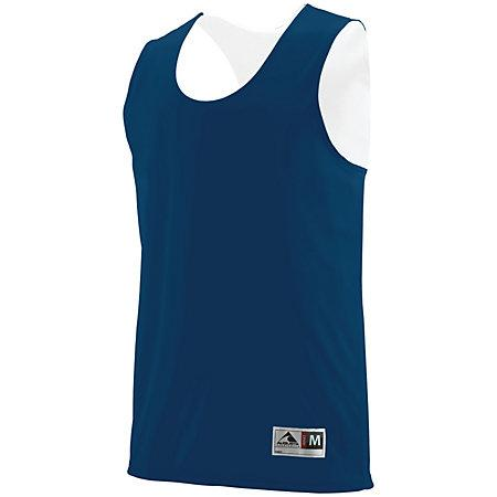 Youth Reversible Wicking Tank Navy/white Basketball Single Jersey & Shorts