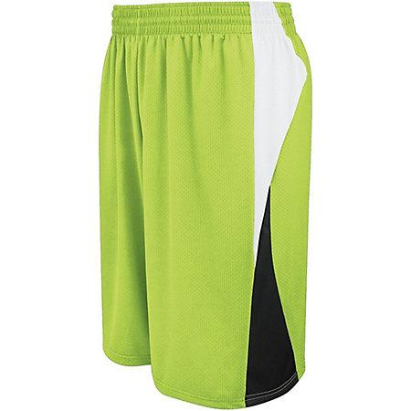 Youth Campus Shorts reversibles Lime / blanco / negro Baloncesto Single Jersey &