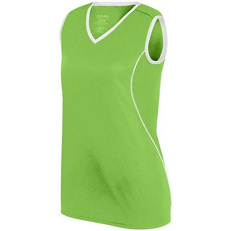 Ladies Firebolt Jersey Lime/white Softball