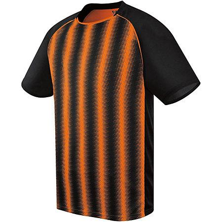 Youth Prism Soccer Jersey Black/orange Single & Shorts