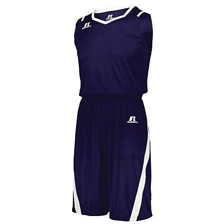 Athletic Cut Jersey Purple / white Adult Baloncesto Single & Shorts