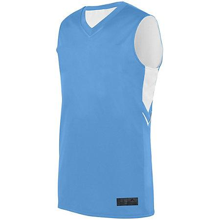 Alley-Oop Reversible Jersey Columbia Blue/white Adult Basketball Single & Shorts