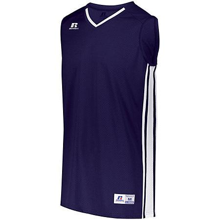 Youth Legacy Basketball Jersey Purple/white Single & Shorts