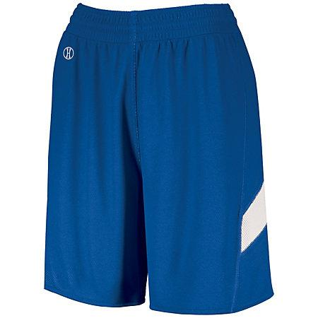 Ladies Dual-Side Single Ply Shorts Royal/white Basketball Jersey &