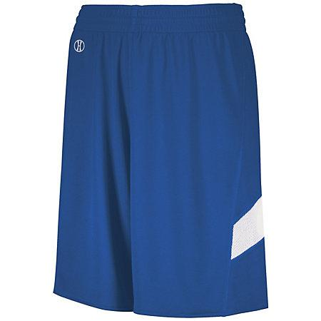 Youth Dual-Side Single Ply Basketball Shorts Royal/white Jersey &