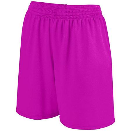 Girls Shortwave Shorts Power Pink/white Softball