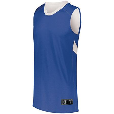 Youth Dual-Side Single Ply Basketball Jersey Royal/white & Shorts