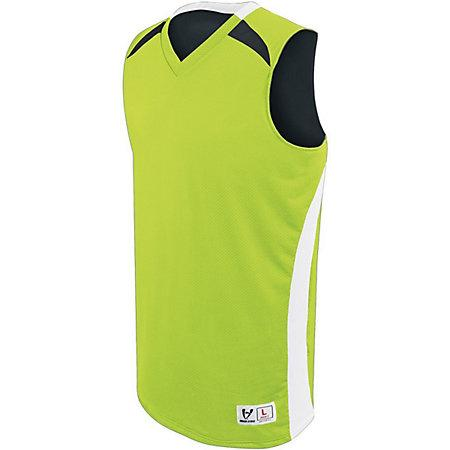Campus Reversible Jersey Lime/white/black Adult Basketball Single & Shorts