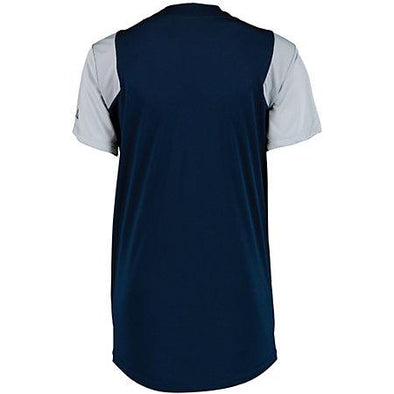 Ladies Performance Two-Button Color Block Jersey Softball