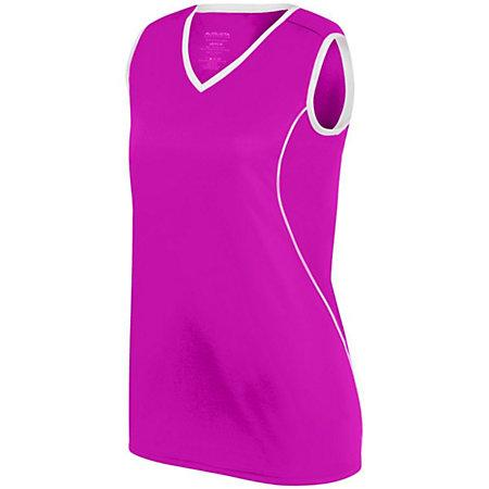 Ladies Firebolt Jersey Power Pink/white Softball