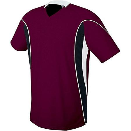 Helix Jersey Maroon/black/white Adult Single Soccer & Shorts