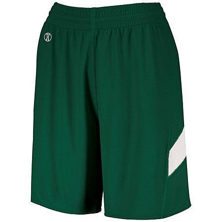 Ladies Dual-Side Single Ply Shorts Forest/white Basketball Jersey &
