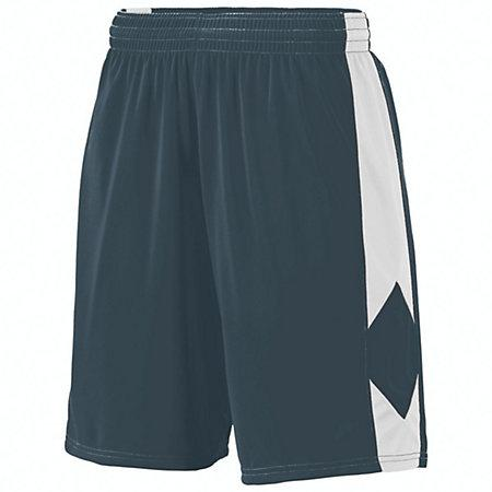 Youth Block Out Shorts Slate/white Basketball Single Jersey &